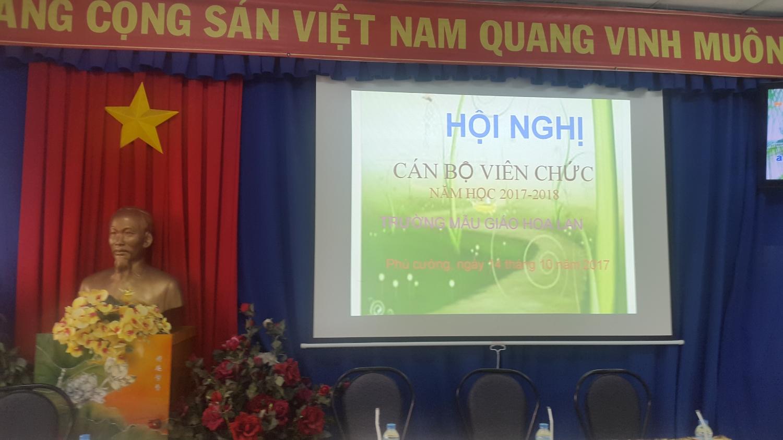 ĐẠI HỘI CBVC TRƯỜNG MG HOA LAN NĂM HỌC 2017-2018